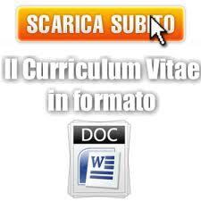 Curriculum Vitae in formato DOC